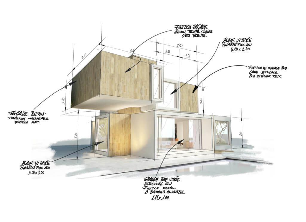 réalisation d'un constructeur de maison cubique à Arras